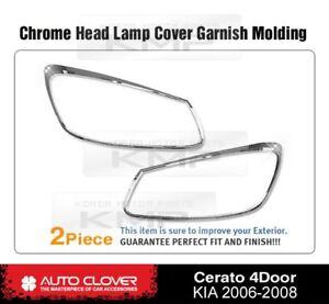 Headlight Chrome Cover Garnish Molding For KIA 2006 2007 2008 Spectra Cerato