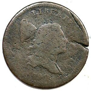 1797 C-2 R-3 Liberty Cap Half Cent Coin 1/2c