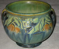 ANTIQUE ART DECO ROSEVILLE BANEDA ART POTTERY FLOWER GARDEN VASE JARDINERE A++