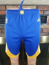 Adidas Golden State Warriors NBA Basketball TEAM SHORTS Youth SIZE Medium Blue