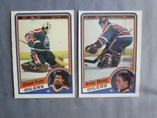New listing 2 1984-85 O-PEE-CHEE HOCKEY CARDS GRANT FUHR AND ANDY MOOG EDMONTON OILERS