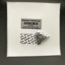 500 Void Warranty Protection Labels Stickers Silver Barcodes and serial number