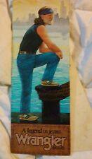 Vintage Country Music Legend Willie Nelson Wrangler Jean Advertising Mini Poster