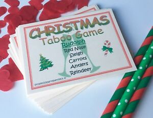 Christmas Taboo Party Games New Year Adult Children Day Eve Virtual Zoom