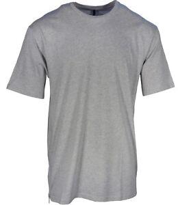 NEW Versus Versace Men's Grey Zip Mesh Panel T-Shirt Med Crew Neck Oversized Fit