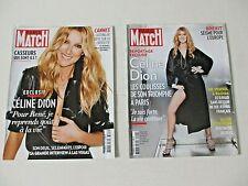 CELINE DION French Paris Match magazine LOT of 2 rare 2016
