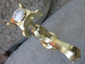 "Vintage Brass Art Deco Tap Faucet 1/2"" Standart Wash Basin Sink Handle Porcelain"