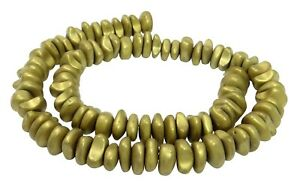 Hematite Matte Golden Nuggets~10-12 x 4-6 MM Beads For Chain