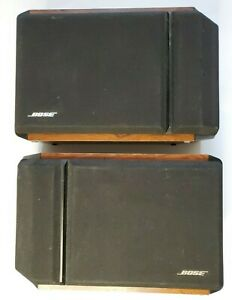 Vintage BOSE 201 SERIES IV Direct Reflecting Bookshelf Wood Speakers Pair  Video