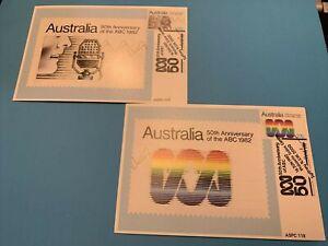 1982  -  ABC (50th Anniversary - 1932 /1982) - Maxi Card set of 2v   XYZ