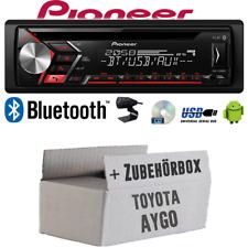 Autoradio Radio Pioneer für Toyota Aygo   Bluetooth USB MP3 Android   Einbauset