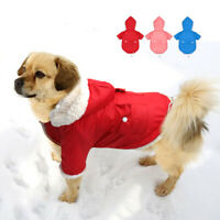 Dog Winter Clothes Warm Fleece Jacket Pet Puppy Hoodie Coat for Small Medium Dog
