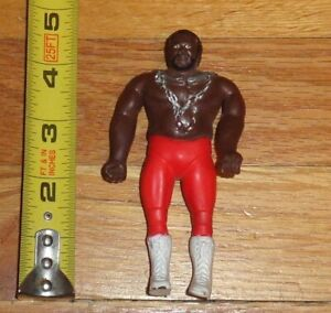,1985 WWF WWE LJN Toys JYD Junkyard Dog Bendie Figure Bendy NWA Mid South WCW