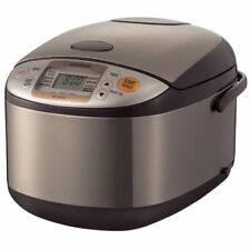 Zojirushi NS-TSC10 5 1/2 Cups Electric Rice Cooker & Warmer Stainless/Brown