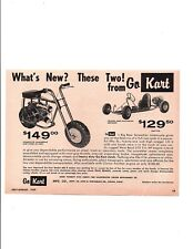 1959 GO KART MODEL 400 B / BIG BEAR SCRAMBLER MINI-BIKE ~ ORIG SMALLER PRINT AD
