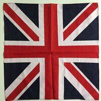 UK Flag Headband Headwrap Bandanas Cotton Square Scarf Scarves Hip Hop Headwrap