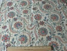 "Rare Scrolly Indienne Hand Blocked French Antique c1820 Cotton Fabric~53""X25.5"""