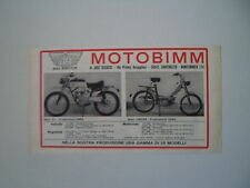 advertising Pubblicità 1969 MOTO BIMM V1 / CROSS