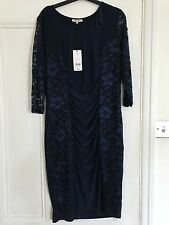 Ladies Navy Long Sleeved Dress Size 14
