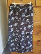 Womens Summer Floral Long maxi Skirt ... size 8-10