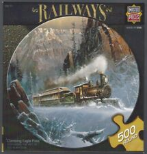 MasterPieces, Railways ~ CLIMBING EAGLE PASS ~ 500 Piece Round Puzzle - USED
