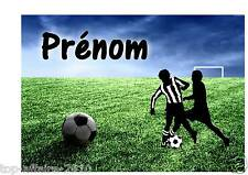 Affiche / Pancarte de porte plastifié Foot Football  02  avec prénom  ( sport )