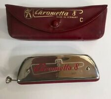 CHROMETTA 8 HARMONICA * Key of C * Made in Germany ~ M-HOHNER WITH CASE!