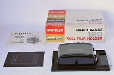 Graflex 4x5 Graphic Rapid-Vance Advance Roll Film Holder -120 Film RH-10 No.1256