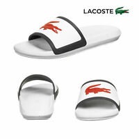 Lacoste Mens White Croco Slides TR13 CMA Casual Pool Slip On Slider Sandals