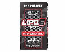 LIPO 6 BLACK ULTRA CONCENTRATE NUTREX 60 caps THERMOGENIC WEIGHT LOSS FREE POST!