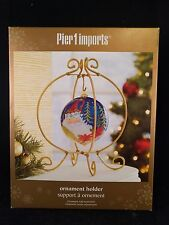 NIB Pier 1 Imports Metal Ornament Holder /Stand /Display Gold Glitter