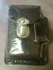 Genuine Leather Brown Snap Cigarette Case Up To 100's Made In USA