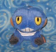 2007 New Croagunk Pokemon Keychain Plush Doll Toy Banpresto Japan Official