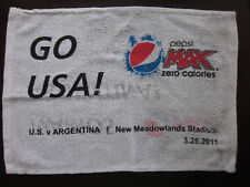 USA vs Argentina Soccer Game Fan Towel Giveaway at Meadowlands Stadium 2/26/2011