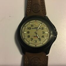 Timex Expedition Indiglo WR 50M Mens Watch Genuine Water Resistant Leather Band