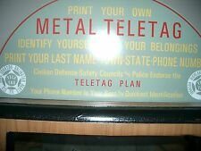 marque sign for metal typer
