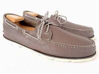 Sperry Top-Sider Men's Leeward 2-eye Boat Shoe Gray Size 12 M
