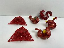 SpinMasters Bakugan - Red/Pyrus Lot of 6 Figures - Battle Damaged, Trap