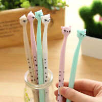 12Pcs Cute Fun Black Gel Ink Roller Ball Point Pens Cat Korean Little Stationery