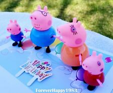 5pcs Peppa Pig Happy Birthday Cake Topper Set Candle Party Supplies