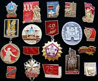 Red army WWII Liberation of Ukraine Set of Pin vintage Badge Lot of 16 pinback