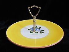 Stangl Pottery Blueberry Cookie Petit Four Tidbit Serving Plate Tray with Handle