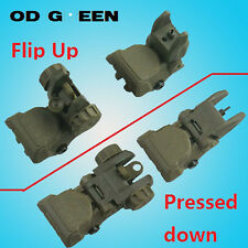 Tactical Polymer Front And Rear AR Flip Up Sight Set OD Green .223 5.56