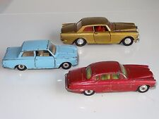 (B) corgi dinky LOT OF 3 ROLLS CORTINA JAGUAR 127 / 139 / 238