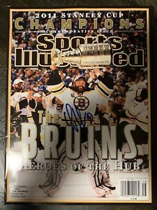Tim Thomas Boston Bruins Autographed 2011 Stanley Cup Champions SI Magazine