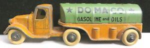 Tootsietoy #0802 Mack Single Axle Domaco Oil Tanker Truck Mfg 1935 - 1939