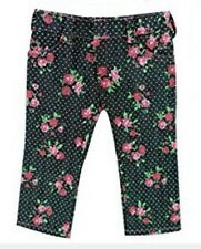 "Go Lovvbugg! Black Floral Roses Jeans Pants for 18"" American Girl Doll Clothes"