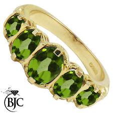 Anelli di lusso verdi oro gialli peridoto