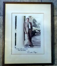 President Ronald Reagan Signed / Autographed Photo, White House - Framed