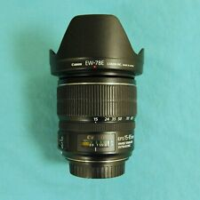 Canon EF-S 15-85mm F3.5-5.6 IS USM and EW -78E lens hood - excellent condition